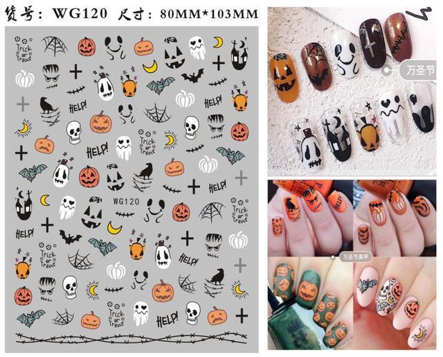 Купить morixi хэллоуин наклейки для ногтей детей вечерние украшения картинки цена