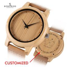 BOBO BIRD Wooden Couple Watches Engrave Back Cover Genuine L