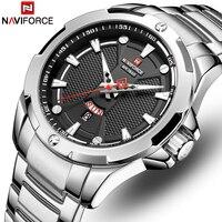 Heren Horloges Top Luxe Merk Naviforce Analoge Horloge Mannen Roestvrij Staal Waterdichte Quartz Horloge Datum Relogio Masculino