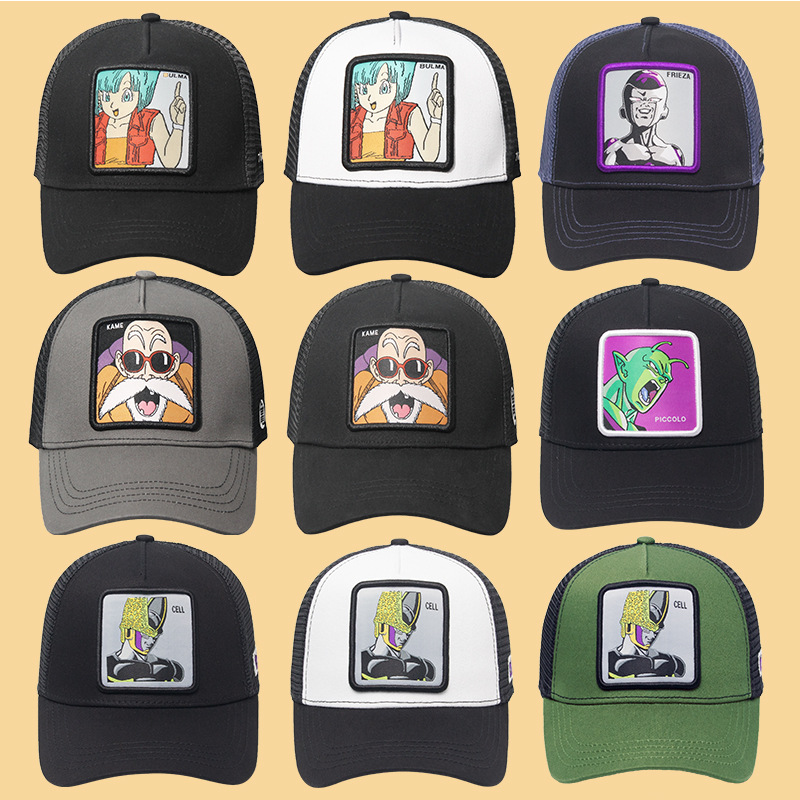Animal  Embroidery Baseball Cap Breathable Cartoon Duck Grid Summer Outdoor Shade Unisex Size Adjustable Driver Dad Hat