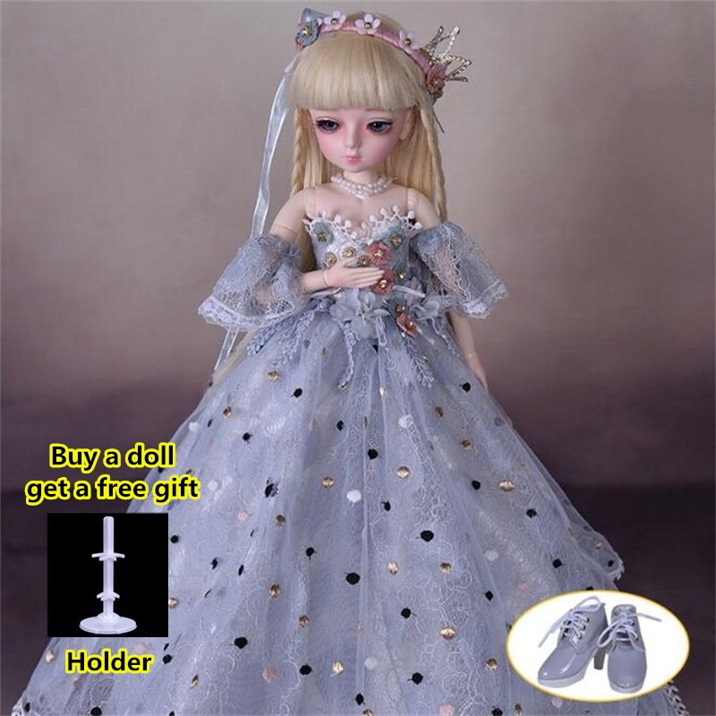 18 Movable Joints BJD Doll 1/4 With Full Outfits Wigs Shoes official Makeup Ball Jointed Dolls collection kids toys Christmas gi 7