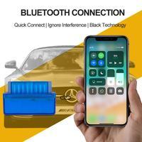 Obd v2.1 mini scanner automotivo  ferramenta de diagnóstico automotivo com bluetooth 4.0  testador elm327 obd2  obdii 2 elm 327 windows ios