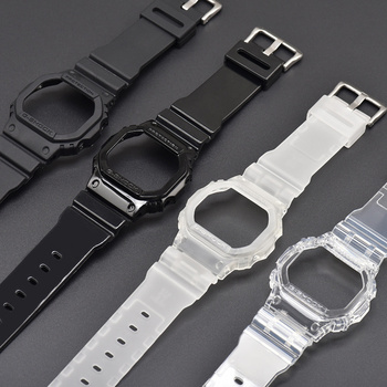 Watch Band Frame Set Pin Buckled TPU Wristwatch Strap Case Replacement Accessories For DW5600/GW-M5610/G-5600/G-5000 new for caswatch gshock gw 3500b gw 3000b gw 2000 g 1200b g 1250bresin tape watchabnd watch band strap tool
