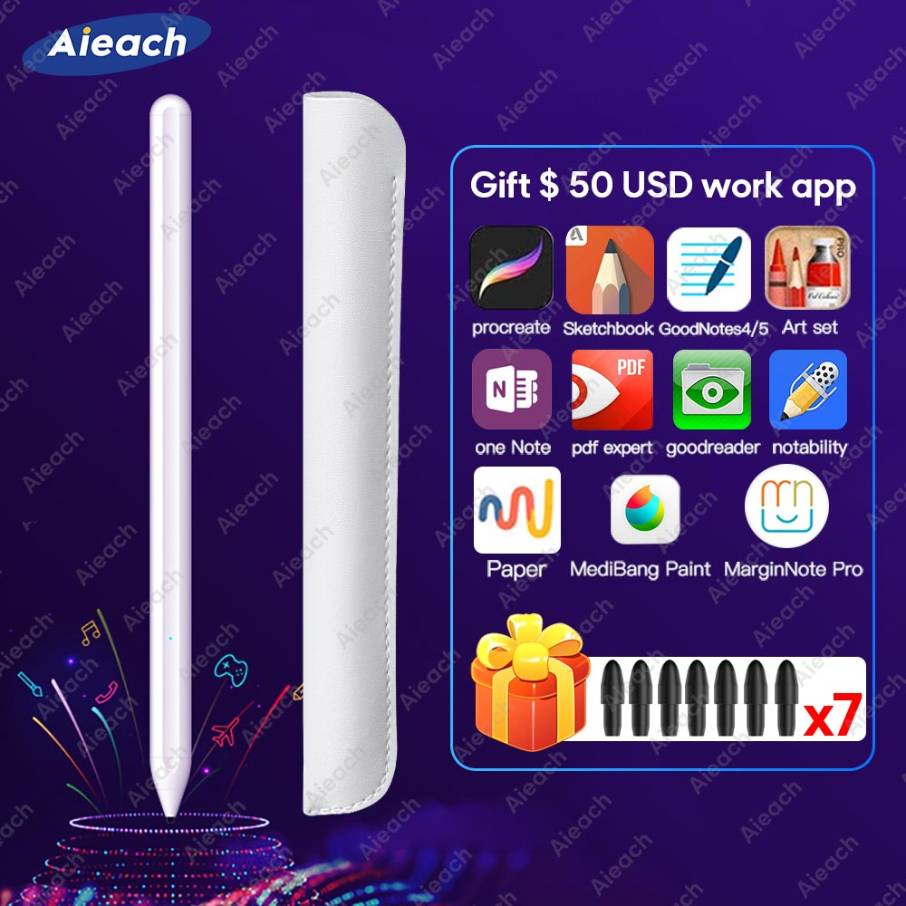 For Apple Pencil 2 Touch Pen Stylus For iPad Pro 11 12.9 9.7 2018 Air 3 10.5 2019 Mini 5 For iPad Pencil No Delay Drawing Pen
