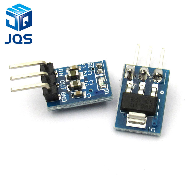 10Pcs 5V To 3.3V DC-DC Step-Down Power Supply Buck Module AMS1117 800MA