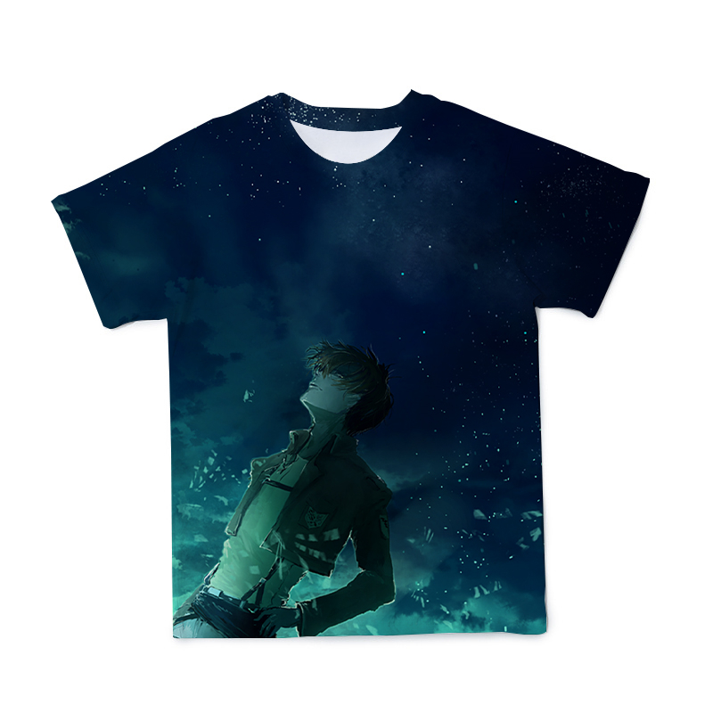 3D Men's T-Shirt Fashion Casual Japanese Anime Short-Sleeved Top O-Neck Large Loose T-Shirt Men And Women T-Shirt (Customizable)