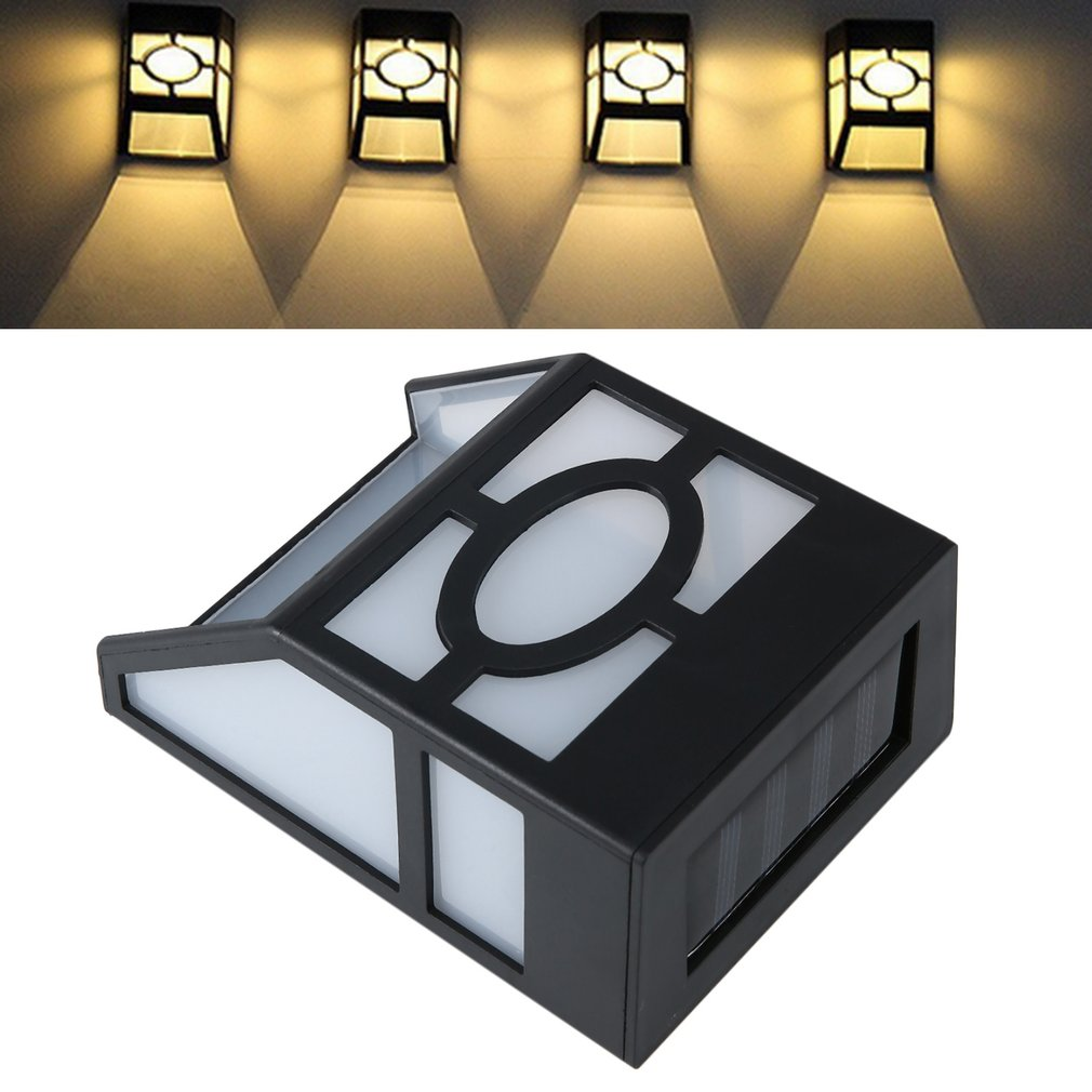 Waterproof Solar Powered LED Wall Mount Light Low Power Consumption Super Bright Outdoor Garden Pathway Fence Light Lamp