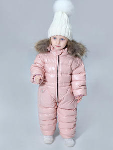 Baby Jacket Jumpsuit Girls Infant Boys Kids 80%Duck-Down for Climbing Outdoor 2--5y-30russian