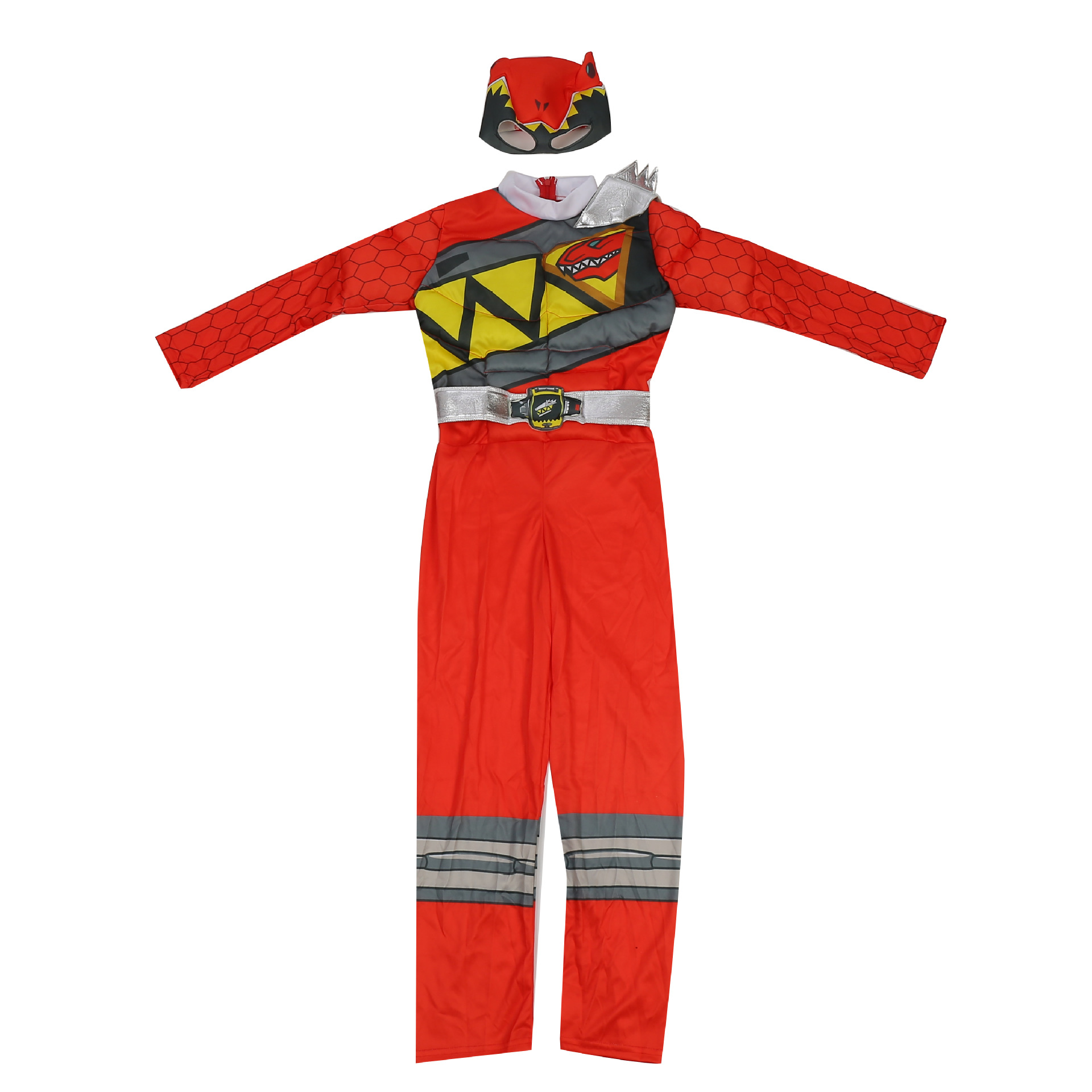 Red Power Dino Charge Boys Muscle Costume 4