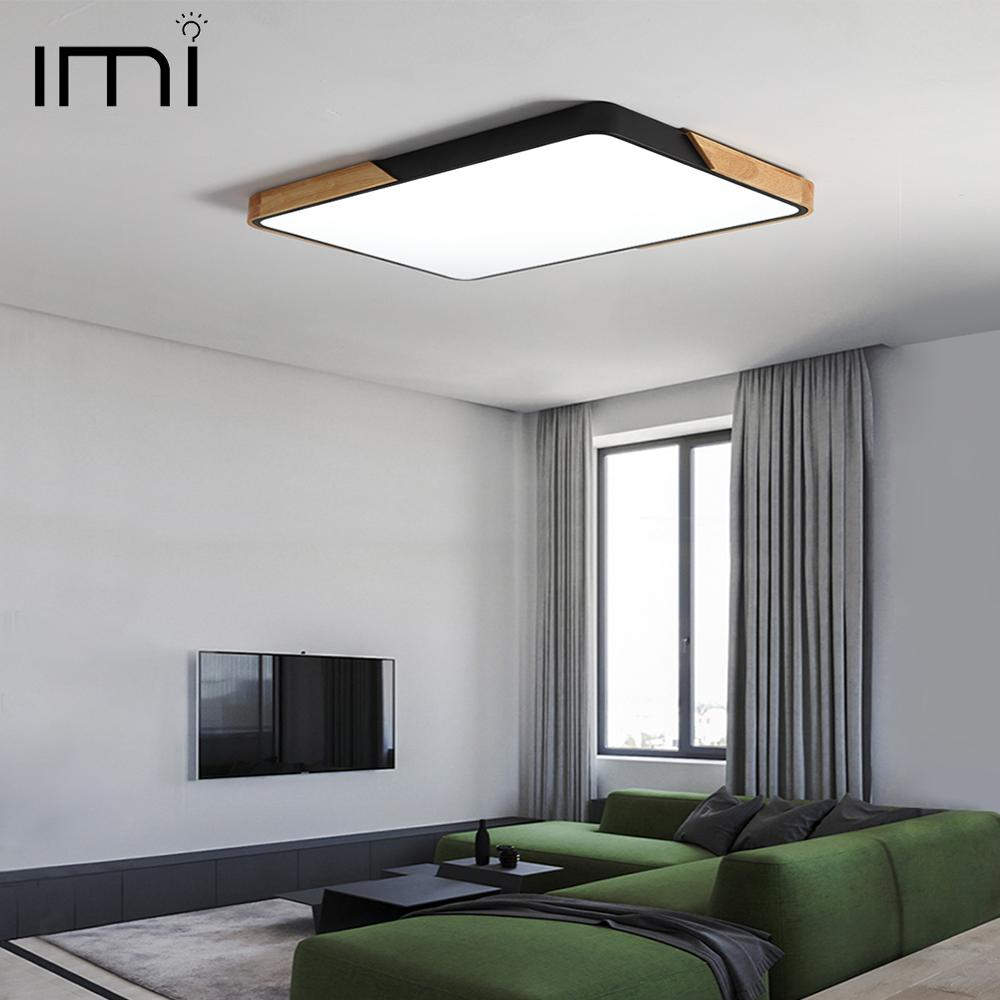 Modern LED Ceiling Light Surface Mount Flush Lamp Indoor Lighting Fixture Living Room Bedroom Kitchen Remote Control Dimmable