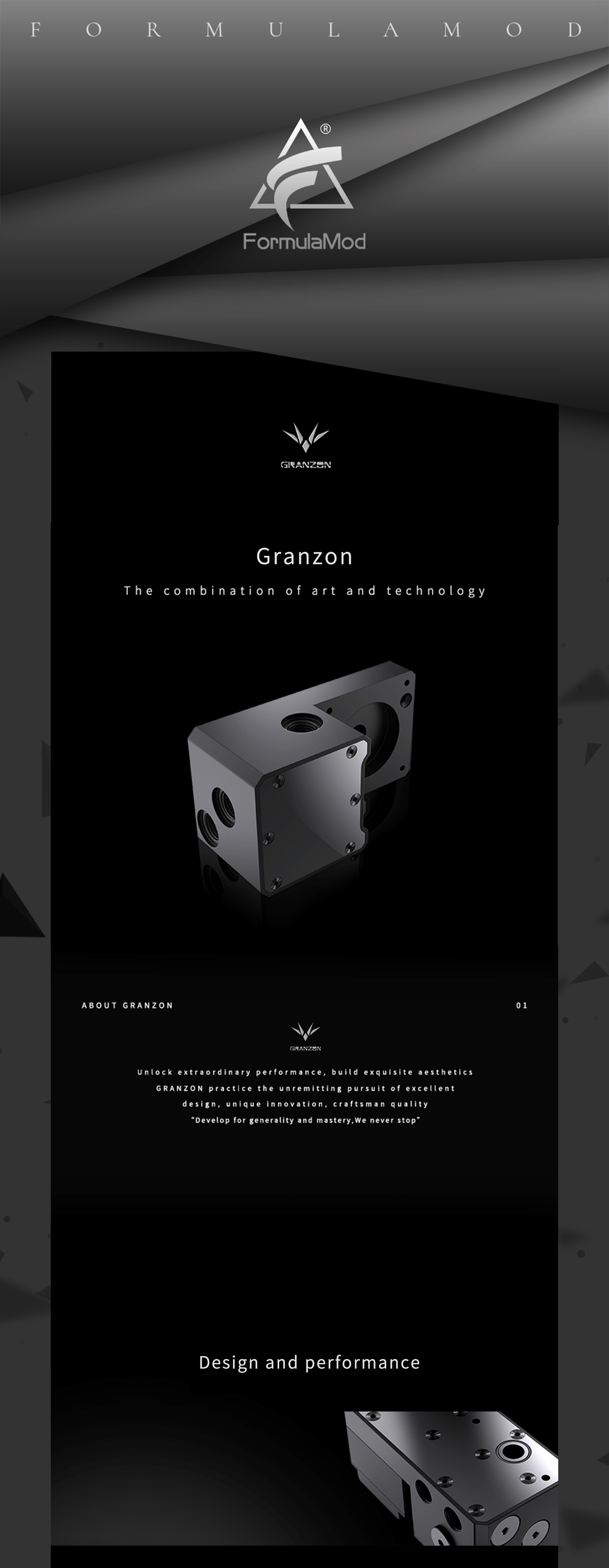 Granzon GY-M Pump Radiator Bridge Module , For GH Series Radiator To PMD3 Pump Connect , ITX Gamer Case Reservoir Water Cooling