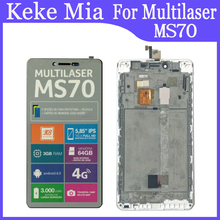 5.85 pollici Per Multilaser MS70 Display LCD + Touch Screen Digitizer Assembly Con Telaio di Ricambio Multilaser MS70