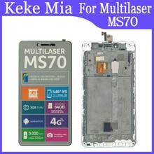 Pantalla LCD Multilaser MS70 de 5,85 pulgadas + MONTAJE DE digitalizador con pantalla táctil con marco de repuesto Multilaser MS70