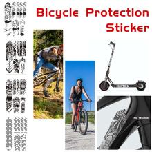 Bike Sticker Reflective Tape Mountain Bike Scratch Resistant Frame Protector Removable Sticker Road Bicycle Frame Guard Cover цена 2017