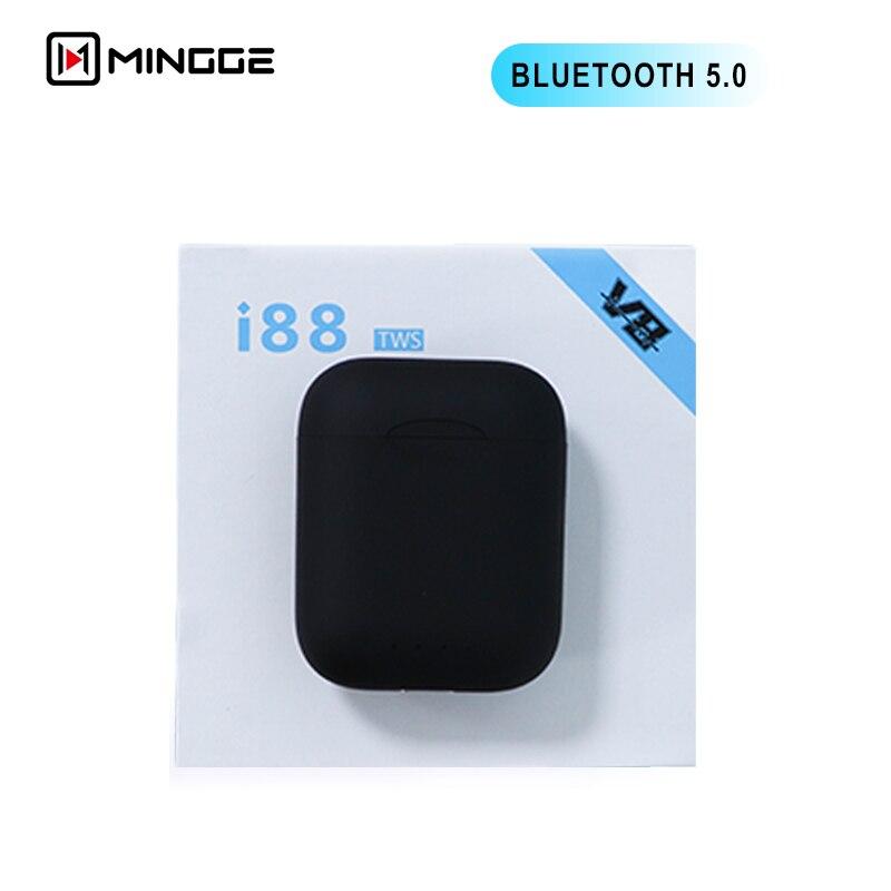 I88 tws gêmeos fones de ouvido sem fio mini bluetooth v5.0 fone estéreo para todos telefone celular inteligente