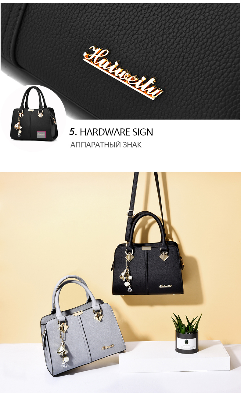 Designer Brand Bags Ladies Leather Tote Bag 2020 Luxury Ladies Handbag Wallet Fashion Shoulder Bag 16