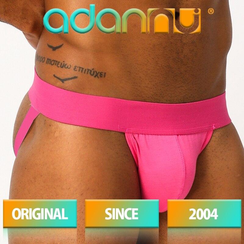 ADANNU Brand sexy jockstrap men underwear cueca tanga thong men g string breathable sissy panties erotica lingerie gay underwear