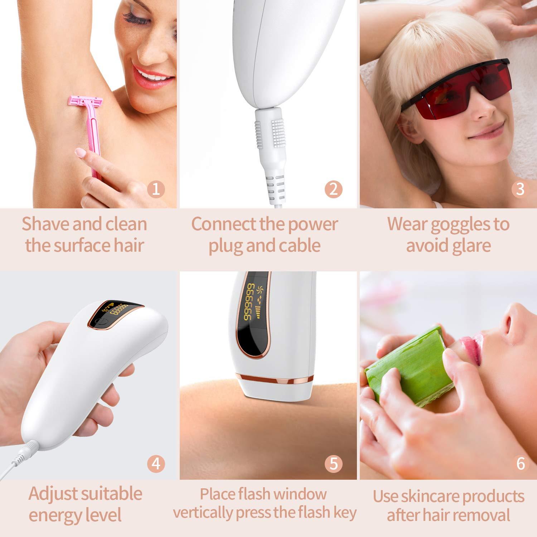 para mulheres, 999999 flash, photoepilator, display lcd,