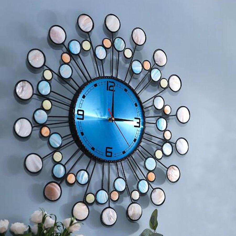Large Metal Wall Clock Modern Design Living Room Decoration Mediterranean Iron Luxury Clocks Wall Watch Home Decor Silent 58 cm - 2