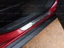 Dla Mitsubishi samochód Outlander akcesoria drzwi zabezpieczenie progu płyta chroniąca przed zarysowaniem stylizacji naklejki pedał 2016 2015 2014 2019 2020 2021
