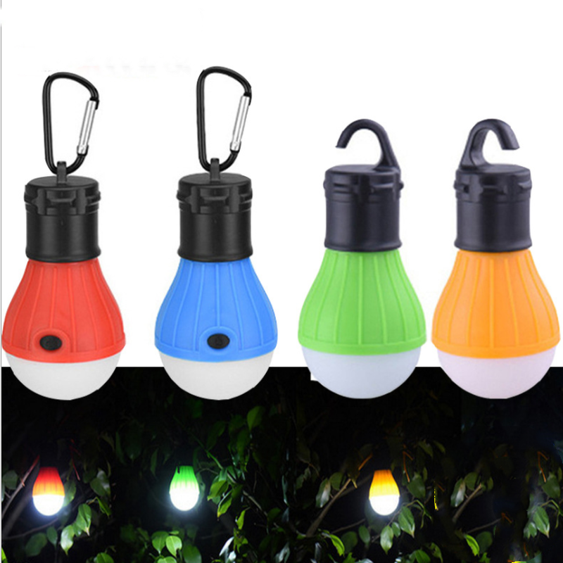 3LED Tent Hanging Light Lamp 3 Modes Outdoor SOS Emergency Carabiner Mini Bulb Portable Camping Lantern Hanging Hook Flashlight