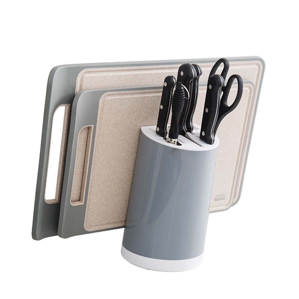 Cutting Board Holder Cutting Tool Storage Multifunction Detachable Durable Leakage Hole Kitchen ABS Simple Cutlery Tilt Design