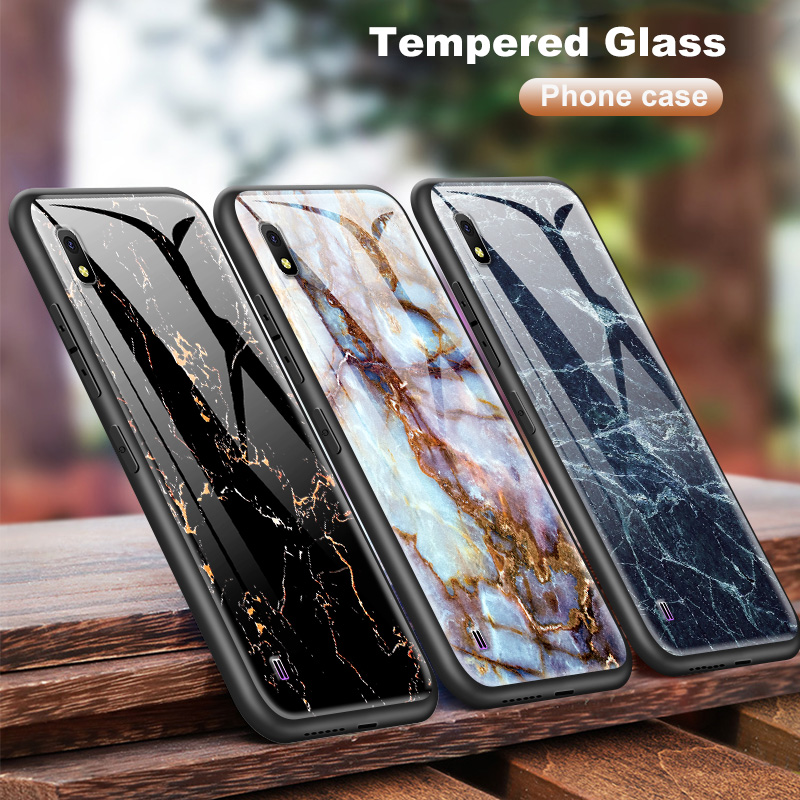 Tempered <font><b>Glass</b></font> <font><b>Case</b></font> for <font><b>Samsung</b></font> <font><b>Galaxy</b></font> A10 A80 A90 A6S A8S A20 A30 A40 A50 A70 2018 J4 Plus M10 <font><b>M20</b></font> M30 S8 S9 S10+ Protect Shell image