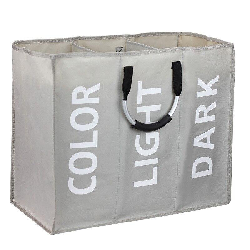 Складная корзина для белья с тремя ячейками, детская корзина, органайзер, сумка для грязной одежды, книга, игрушка для дома
