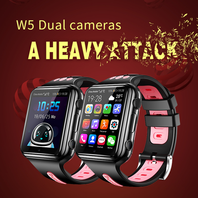 4G GPS Wifi location Student/Kids SmartWatch Phone H1/W5 android system clock app install Bluetooth Smart watch 4G SIM Card