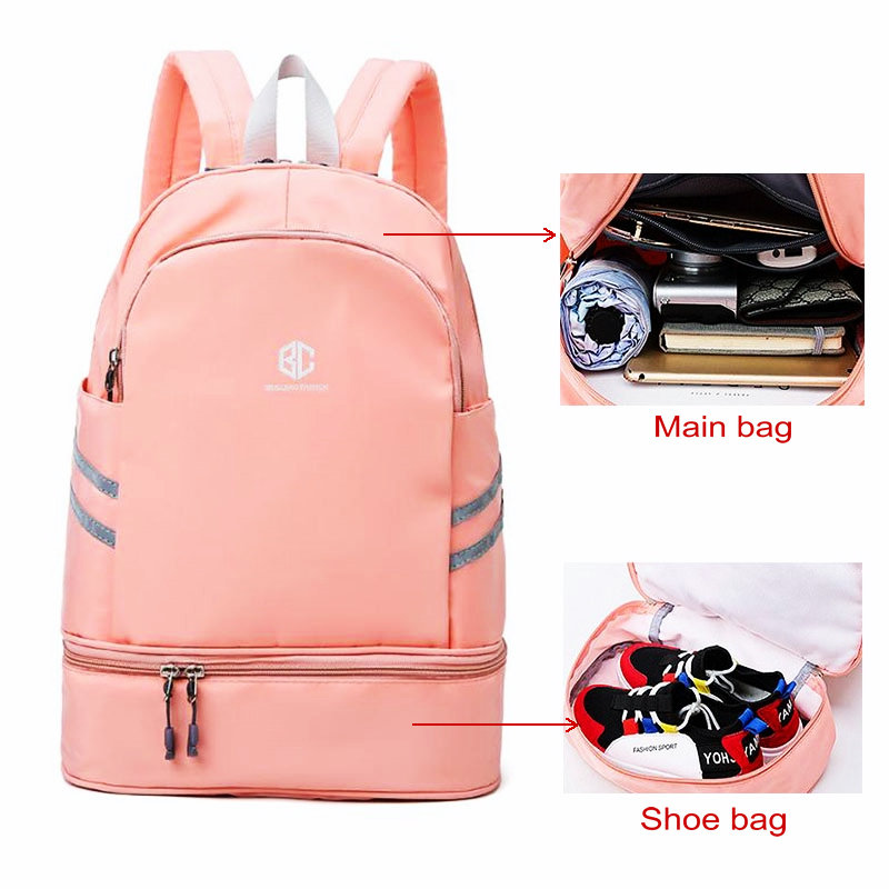 Sport Bags For Women Pink Lightweight Sports Gym Bag With Shoe Compartment Training Sac De Sport Travel Gymtas Fitness Backpack