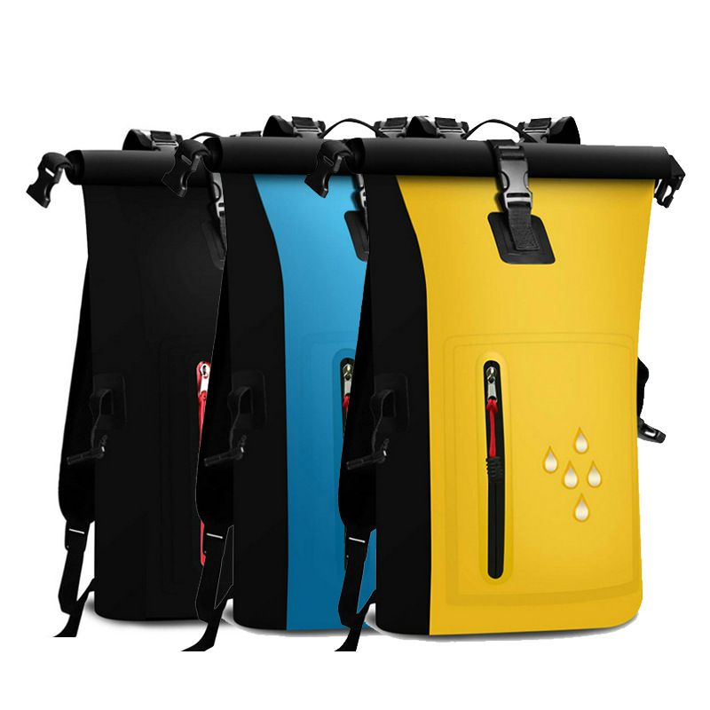 Waterproof Dry Bags Outdoor Double Shoulder Straps PVC Buckled Storage Sack For Travel Drifting Climbing Camping Backpack
