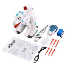 Mechanical War Dragon Toys Remote Control Dinosaur Toy Music Intelligent Children RC Robot Mechanical War Dragon Toys(China)
