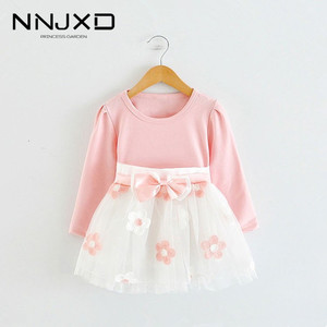 Long Sleeve 1 Year Girl Baby Birthday Dress 0 2T Newborn Toddler Christening Dresses Winter Girl Casual Clothes Vestido Infantil(China)