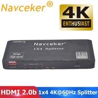 2019 4K 60Hz HDMI Splitter 1x2 1x4 HDMI 2.0 Splitter 4K HDMI Splitter HDCP 2.2 4 Port HDMI Splitter Switcher for PS4 Apple TV