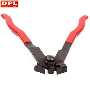 Image 5 - Pince de serrage à Joint métallique 2 CV, outil dinstallation de bande, Type doreille, pince de démarrage, outil manuel en métal rouge + noir