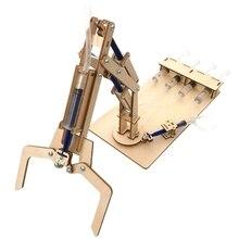 Гидравлическая механическая рукоятка Diy модели и строительные игрушки научная и образовательная модель игрушки для детей Рождественский подарок на день рождения игрушка для детей