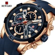 2021 New REWARD Mens Watches Blue Waterproof Top Brand Luxury Chronograph Sport Watch Quartz Men Wristwatch Relogio Masculino