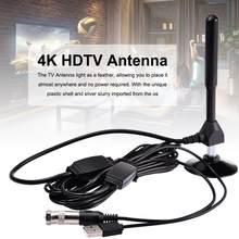 Numérique 4K HDTV AÉRIENN Intérieur Antenne Amplifiée 1180 Miles avec HD1080P DVB-T2 Freeview TV pour Vie Chaînes Locales