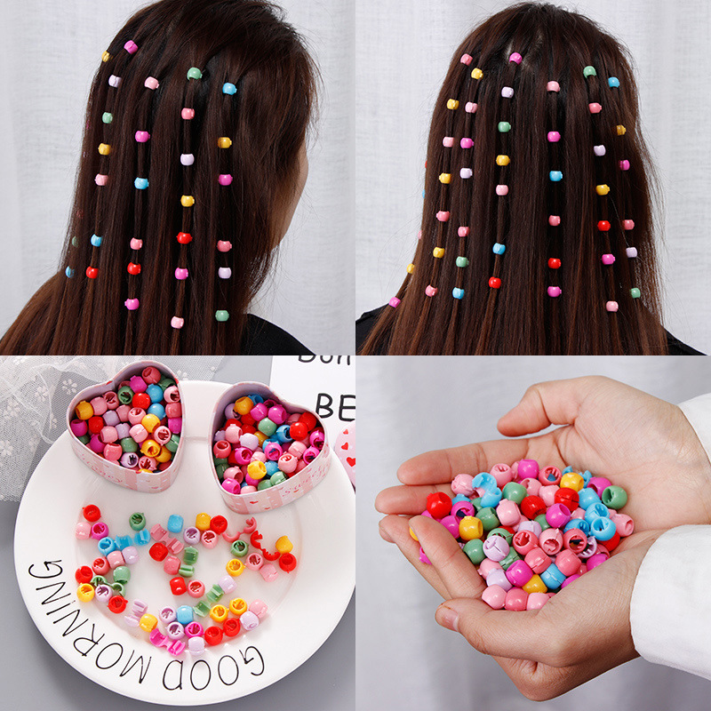 10-40Pcs/Pack New Children Hair Claws Headwear Set Candy Color Peas Clips Girls Acrylic Hairpins Hair Clips Hair Accessories