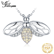 JPalace Bee CZ Silver Pendant Necklace 925 Sterling Silver Choker Statement Necklace Women Silver 925 Jewelry Without Chain