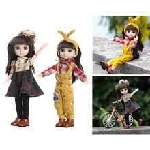 2x artesanal móvel conjunto completo boneca 1/6 moda menina boneca olhos presente brinquedo