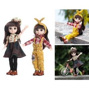 2 шт., Подвижная кукла ручной работы, полный комплект, 1/6, модная Кукла с глазами для девочек, Подарочная игрушка