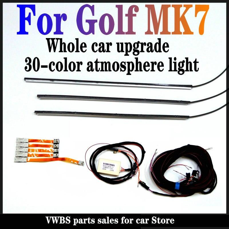 Комплект RGB для обновления окружающего освещения для VW Golf MK7, обновляемое RGB Освещение для ног, RGB Освещение для двери и приборной панели авто...