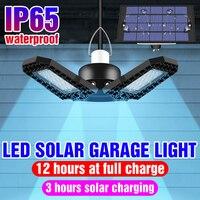 LED Solar Wand Lampe Birne 5V Outdoor Licht LED Folding Garage Licht 60W 80W Folding Birne LED solar Decke Lampada Garten Hof