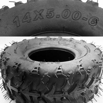 Neumático ATV de 6 pulgadas 14x5.00-6, vehículo de cuatro ruedas para 50cc, 70CC, 110CC, ATV pequeño, ruedas delanteras o traseras, cortacésped de cuatro ruedas, Buggy Go-kart