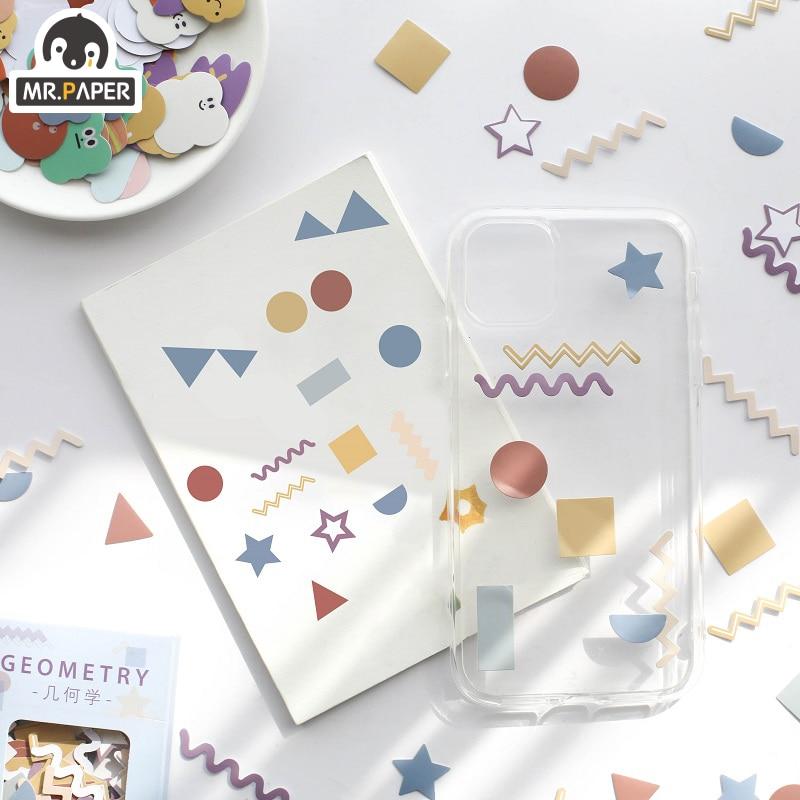 Mr.Paper 100pcs/lot Kawaii Animal Mini Coated Paper Stickers Deco Bag Minimalist Toys Write Down Points Luggage Artsy Style Memo 5