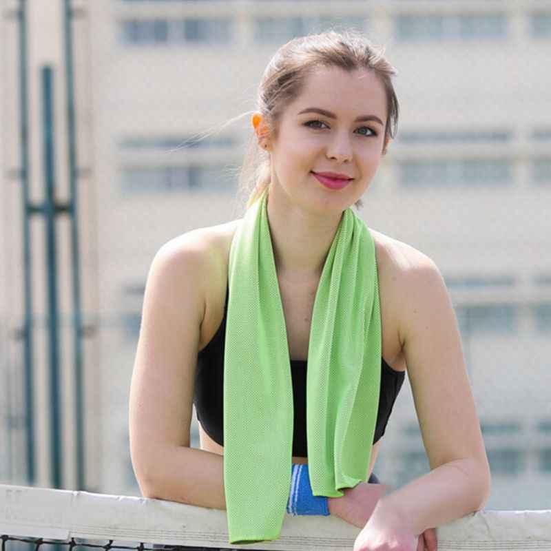 Novo verão natação toalha de resfriamento leve respirável reusável atlético frio frio frio molhado toalhas para o instante