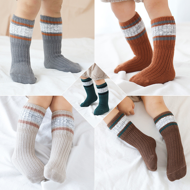 Children's Socks for Boy Woolen Knitted Socks for Girls Winter Thick Warm Knee Baby Socks Suitable for Snowing Leg Warmers 1-8Y 3