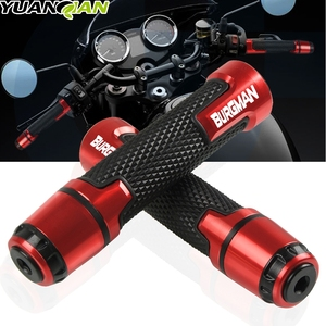 "For SUZUKI BURGMAN 650 400 125 200 AN650 AN400 AN125 AN200 Motorcycle Hand Grips 7/8"" 22mm CNC Aluminum Rubber Gel Handle Grip
