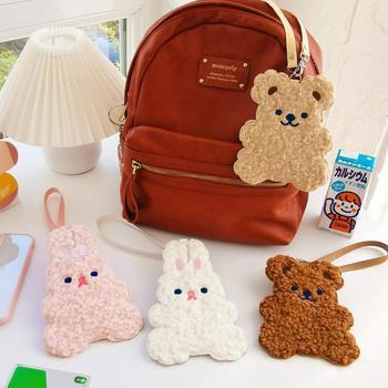 Korea Fashion Bear Bus Bank Credit Card Bag Girls Drivers license Case Pendant Accessories Cute Japan Design
